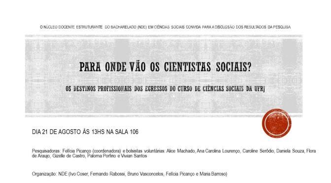 """Resenha do evento """"Para onde vão os cientistas sociais?"""""""